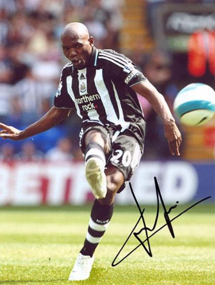Geremi, Newcastle Utd & Cameroon signed 10x8 inch photo.